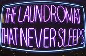 Laundromat That Never Sleeps — Stock Photo