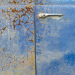 Rusting Blue Paint — Stockfoto