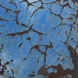 Stock Photo: Rusting Blue Paint