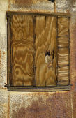 Boarded up Window — Stock Photo
