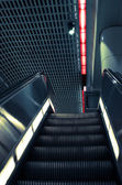 Escalator in los angeles metro station — Stock Photo