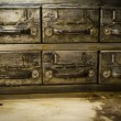 Vintage metal drawers — Stock Photo