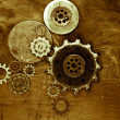Steampunk background - Stock fotografie