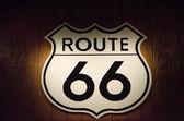 Retro route 66 sign — Stock Photo