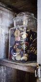 Vintage button jar — Stock Photo