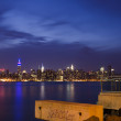 Stock Photo: New York Skyline as seen from Brooklyn