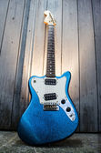 Electric blue guitar — Stock Photo