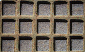 Square metal texture — Stock Photo