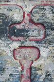 Paint on metal texture — Stock Photo
