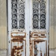 Elegant rust metal door — Stock Photo