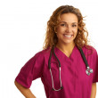 Happy beautiful female healthcare practitioner — Stock Photo
