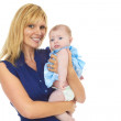 Happy Proud Young Mother With Baby Girl — Stock Photo