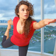 Stock Photo: Beautiful caucasion female doing yoga