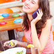 Young Woman Talking On Cell Phone — Stockfoto