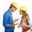 Angry Architect And Construction Worker — Stock Photo