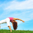 Young Beautiful Woman Doing Yoga — Stock Photo
