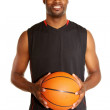 Portrait of a happy young basketball player — Stock Photo