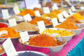Different Spices Available For Retail At Market — Stock Photo