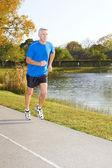 Mature Man Jogging — Stock Photo
