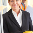 Happy confident business woman — Stock Photo