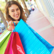 Stock Photo: Beautiful Woman Smiling With Shopping Bags