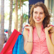 Beautiful Woman Smiling With Shopping Bags — Stock Photo