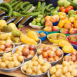 Stock Photo: Fruits And Vegetables On Sale