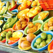 Fresh Vegetables For Sale In Market — Stock Photo