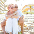 Stock Photo: Couple at beach