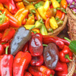 Chilli Peppers For Sale At the Market — Stock Photo