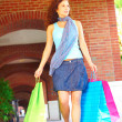 Beautiful Smiling Woman Holding Shopping Bags — Stock Photo