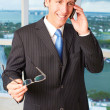 Happy Male Executive On Phone Call — Stock Photo