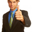 Confident Business man giving the big thumbs up — Foto Stock