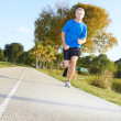 Mature Man Jogging — Stockfoto