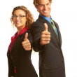 Confident Business man giving the big thumbs up — Stock Photo