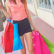 Modern Woman Carrying Shopping Bags — Stock Photo