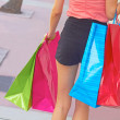Shopaholic Woman Carrying Bags — Stock Photo