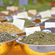 Dried Tea Leaves For Sale — Stock Photo