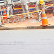Stock Photo: Workers Working On Pavement