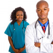 Young African-American Doctor and Nurse — Stock Photo