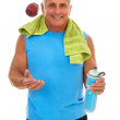 Caucasion Male Just After A Workout — Stock Photo