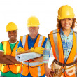 Happy Construction Workers — Stock Photo