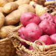 Fresh Raw Potatoes For Sale At the Market — Stock Photo