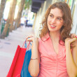Beautiful Woman Smiling With Shopping Bags — Stock Photo #29922423