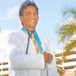 Successful Hispanic Doctor Smiling — Stock Photo