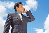 Latin Businessman On Call — Stock Photo