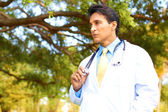 Young Male Doctor With Stethoscope — Stock Photo