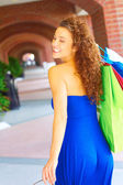 Beautiful Smiling Woman With Shopping Bags — Foto de Stock