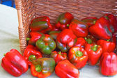 Red Bell Peppers For Sale — Stock Photo