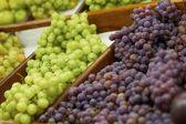 Fresh Grapes On Sale — Stock Photo